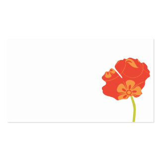 Pretty Poppies Escort Card Double-Sided Standard Business Cards (Pack Of 100)