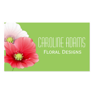 Pretty Poppies Floral Business Card Templates