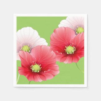 Pretty Poppies Floral Napkin