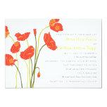 "Pretty Poppies Horizontal Invitation Card 5"" X 7"" Invitation Card"