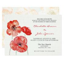 Pretty Poppies Modern floral wedding invites