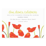 Pretty Poppies Reception & Informational Card Business Card Template