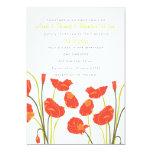 Pretty Poppies Vertical Invitation Card
