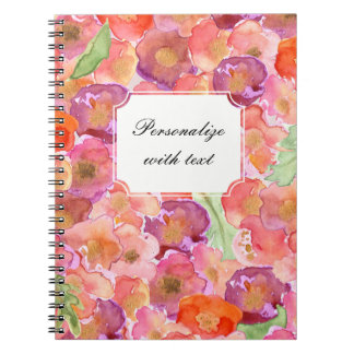 Pretty Poppies Watercolor Spiral Notebook