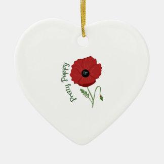 Pretty Poppy Ornament