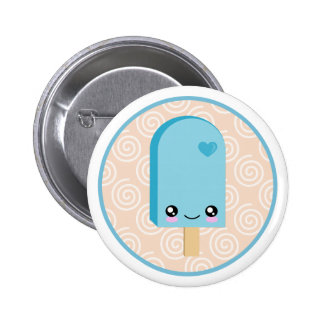 Pretty Popsicles Aqua Blue Kawaii Buttons