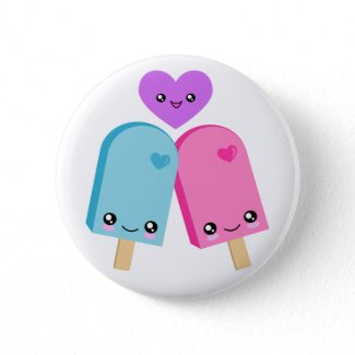 Pretty Popsicles BFF Kawaii Buttons button
