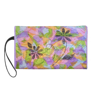 Pretty Posies Collage Wristlet Purse