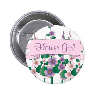 Pretty Posy Flower Girl Button