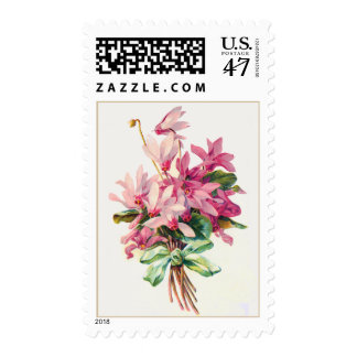 Pretty Posy Flowers with Cute Bow Postage