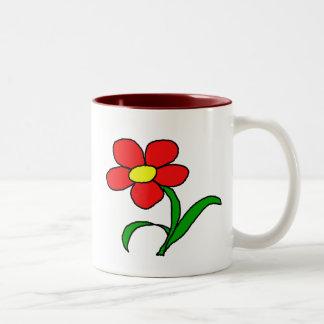 Pretty posy Two-Tone coffee mug