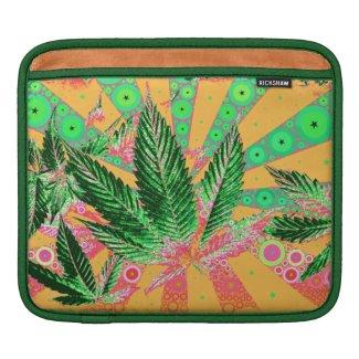 Pretty Pot Leaf #7 Rickshaw iPad Sleeve