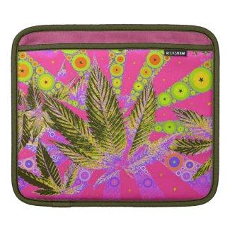 Pretty Pot Leaf Rickshaw iPad Sleeve