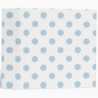 pretty,powder blue,polka dot,white,girly,trendy, 3 ring binder
