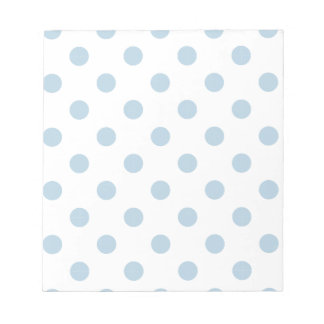 pretty,powder blue,polka dot,white,girly,trendy scratch pads