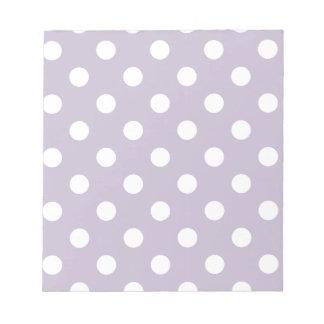pretty,powder purple,polka dot,white,girly,trendy, scratch pads