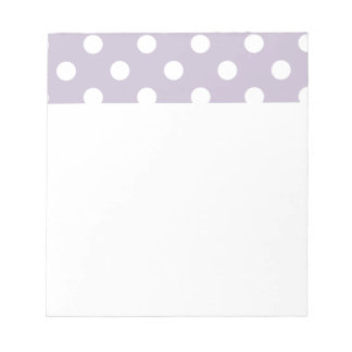 pretty,powder purple,polka dot,white,girly,trendy, notepads