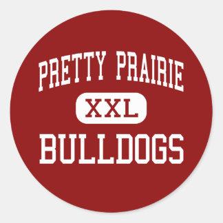 Pretty Prairie - Bulldogs - High - Pretty Prairie Classic Round Sticker
