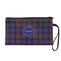 Pretty Pride of Scotland Tartan Plaid Wristlet Purse