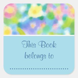 Pretty Primroses Stick-on Bookplates to Customize