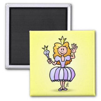 Pretty Princess 2 Inch Square Magnet