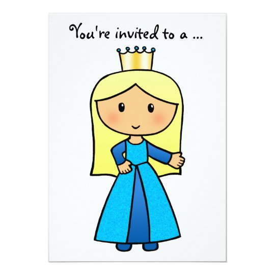 Pretty Princess Bachelorette Girls Night Out Party Card