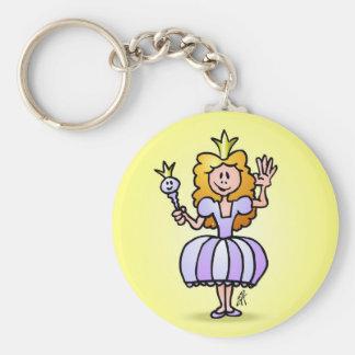 Pretty Princess Basic Round Button Keychain