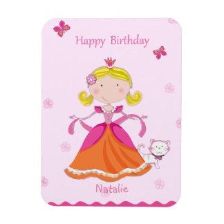 "Pretty Princess Birthday 3""x4"" Photo Magnet"