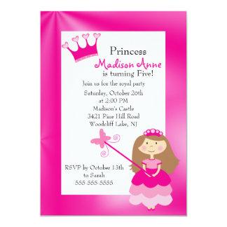 Pretty Princess Birthday Party Invitation