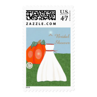 Pretty Princess Bridal Shower Post Stamps