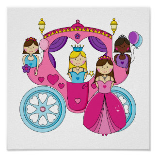 Pretty Princess Carriage Poster
