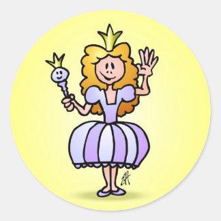 Pretty Princess Classic Round Sticker