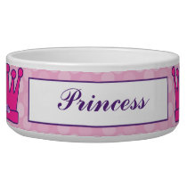 Pretty Princess Crown Personalized Pet Bowls
