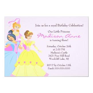 Pretty Princess Girls Birthday Party Invitation