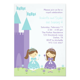 """Pretty Princess Invitation 5"""" X 7"""" Invitation Card"""