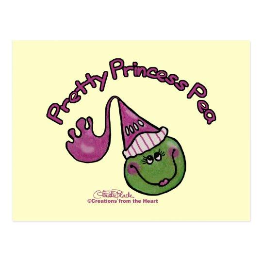 Pretty Princess Pea Postcard