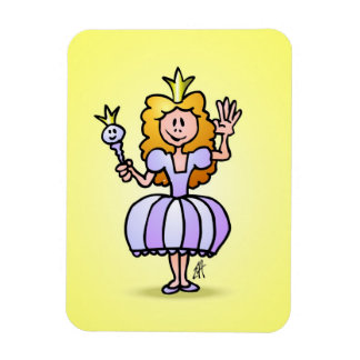 Pretty Princess Rectangular Photo Magnet
