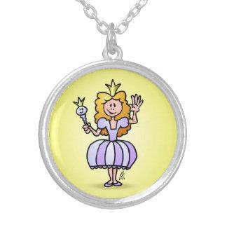Pretty Princess Round Pendant Necklace