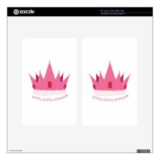 Pretty Princess Kindle Fire Skin
