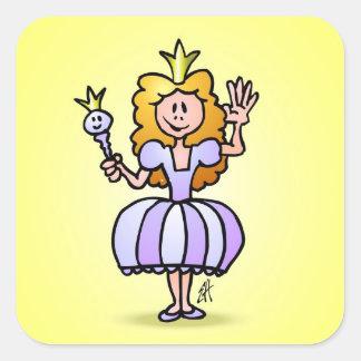 Pretty Princess Square Sticker