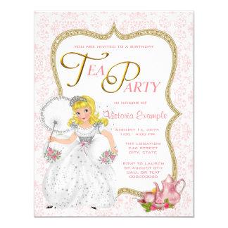 Pretty Princess Tea Party Card