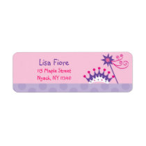 Pretty Princess Tiara Birthday Address Labels