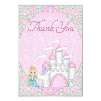 Pretty Princess, Unicorn & Castle Thank You Card