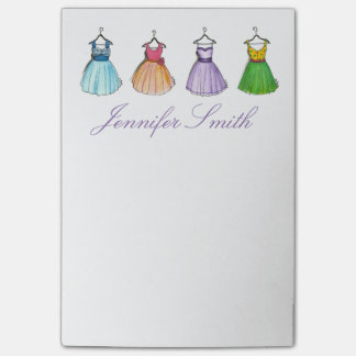 Pretty Prom Dresses Personalized Fashion Post Its Post-it Notes