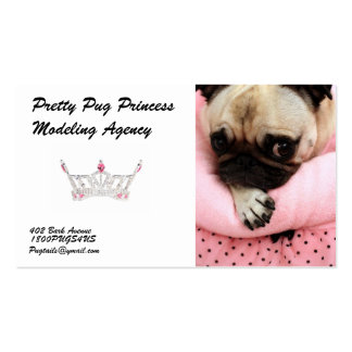Pretty Pug Princess Modeling Agency Business Cards