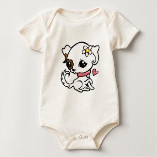 Pretty puppy Jack Russell Baby Bodysuit