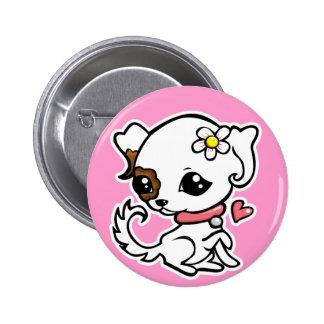 Pretty puppy Jack Russell 2 Inch Round Button