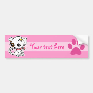 Pretty puppy Jack Russell template Bumper Stickers