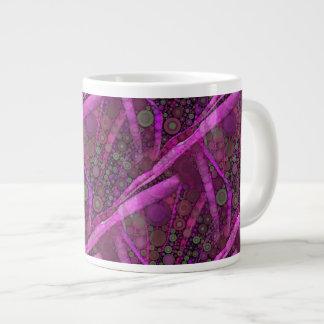 Pretty Purple Abstract Concentric Circles Mosaic Large Coffee Mug