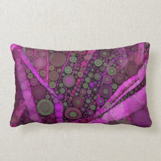 Pretty Purple Abstract Concentric Circles Mosaic Throw Pillow